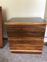 Laminate Bedside Table w/2 Drawers Lewis Center, 43035