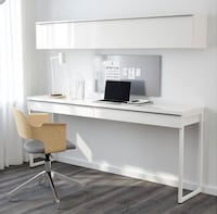High Gloss White Desk / Console Table