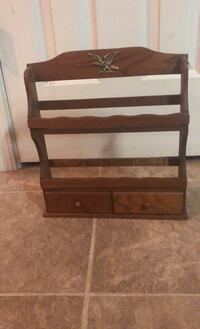 RETRO!! Wall Hanging Spice Rack or Mail holder