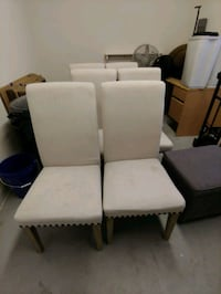 6 White Decorative Chairs with Wooden Legs Las Vegas, 89129