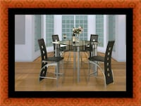 Counter height table with 4 chairs 42 mi