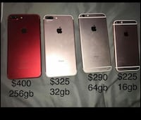 product red and rose gold iPhone 7 Plus, rose gold iPhone 6s Plus, and rose gold iPhone 6s Los Angeles, 90001
