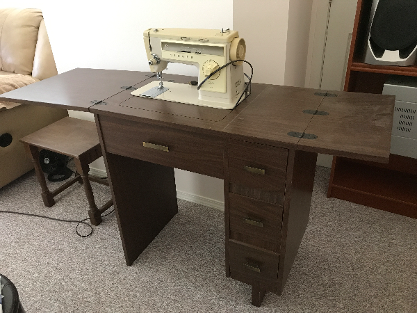 brown wooden single pedestal desk with chair VANCOUVER