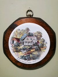 VTG Wood Wall Hanging Made by Jerry Schultz Co NY American Homestead Lorton, 22079