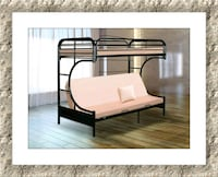 twin over futon bunkbed frame new with  mattress Silver Spring, 20906
