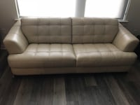 Couch & Loveseat - white leather $100 Arlington, 22202