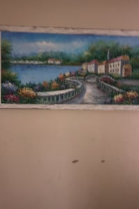 Oil Painting by hand of an Italian village beautiful Belmar, 07719