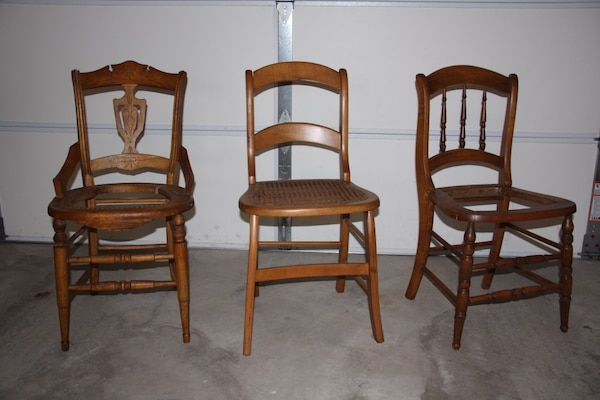 Used 3 Antique Wooden Chairs For Sale In Hockessin Letgo