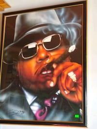 Framed signed Biggie  Millbrook