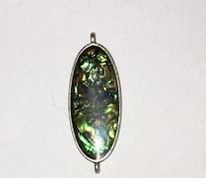 Stunning silver, brown, and green pendant