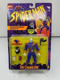 Vintage The Chameleon Action Figure from the 90's Spider-Man The Animated series (Brand New)