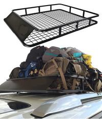 New in box 48x40x6 inches cross bar mount universal cargo travel luggage basket rack  Whittier, 90605