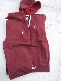 red and white Adidas zip-up jacket New York