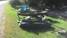 pelican bass raider boat with trolling motor yard sale