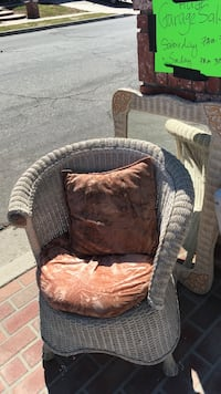 brown wicker armchair with ottoman Simi Valley, 93063
