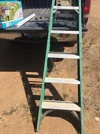 Green and gray a-frame ladder Perris, 92570