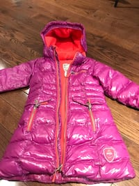 Purple long winter coat - size 5 - Deux Par Deux Toronto, M2N 5W8