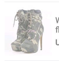 New high heel army boots size 6 Windsor
