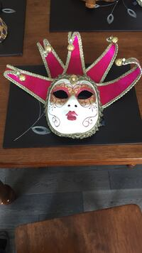 Authentic italian mask white and pink masquerade  Calgary, T3R
