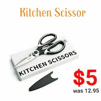 New!! Kitchen Scissors with Blade Cover