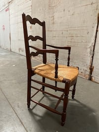 Ladderback french antique chairs with rush seat/8 chairs Santa Monica, 90403