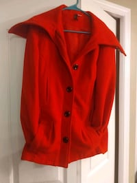 Red H&M Coat Size 8 Small 3151 km