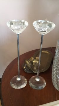 Modern crystal candle holders Youngstown, 44515