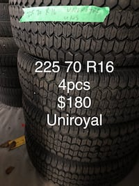 Winter tires 225 70 R16 Toronto, M1V 5G4