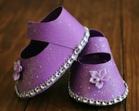 cake topper baby shoes