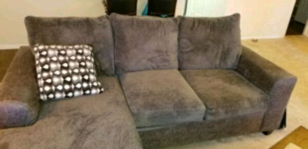 grey couch with chaise