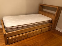 Single solid wood bed frame with mattress will take best offer Toronto, M6J 2K6