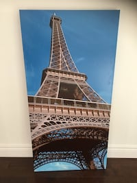 Large Eiffel Tower Artwork on Canvas Mississauga, L4Z 4A1