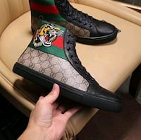 unpaired black and green floral high-top sneaker Nevada