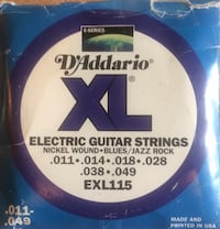 Electric guitar strings ..