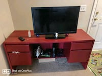 brown wooden TV stand with lot of racks Dublin, 43016