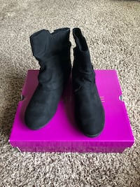 Rampage Black Suede Leather Ankle Boots Size 6 Pelham, 35124