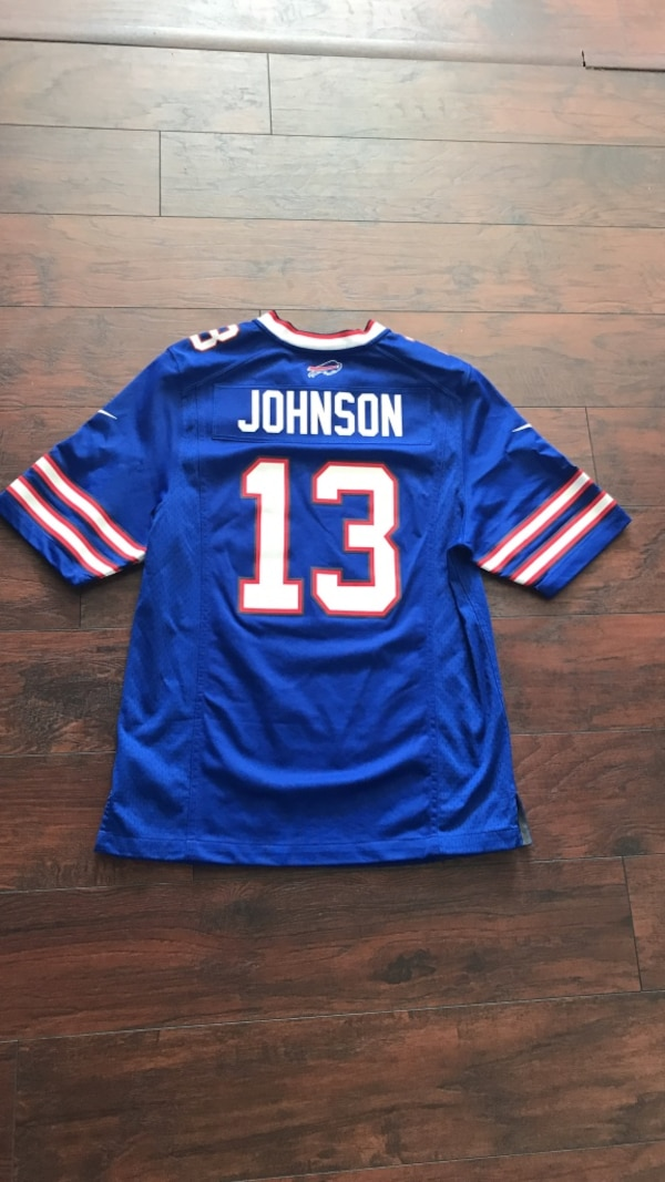 super popular afb7d 7e2ad Stevie Johnson Nike Authentic Buffalo Bills Jersey Adult Small