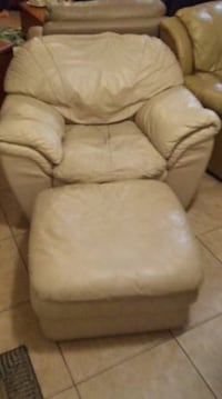 leather chair with ottoman  North Port, 34286