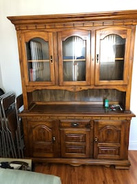 Brown wooden china cabinet with cabinet Montréal, H1S 1M5