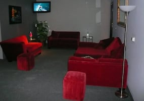 Huge sofa couch daybed 13+ seat media room conference set up