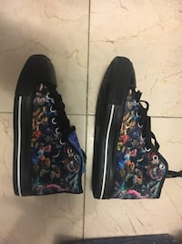 pair of black-and-blue floral shoes Union, 07083