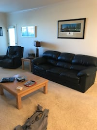 SALE- Leather couch & recliner set