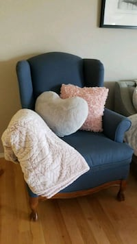 Blue Fabric Accent Chair Edmonton, T6W 0E3
