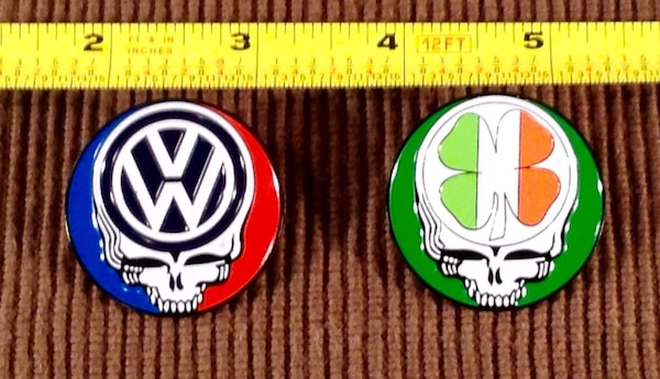 Grateful Dead Hat Pins Pair for $20 or 1 for $12 Jerry Garcia Allman  Brothers Phish Widespread Panic Volkswagen Irish clover