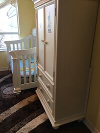 One Baby crib with Armoire and one single bed   Mississauga, L5M 5E2