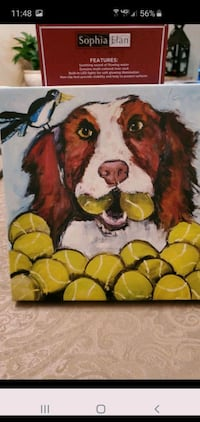 Canvas dog picture