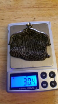 Sterling silver mesh chain purse vintage 1900 to 1