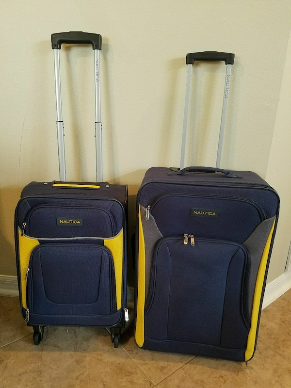 e8a695cac Used Nautica 2 pieces luggage set yellow travel bag for sale in ...
