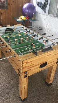 brown and green foosball table Coquitlam, V3K 3J2