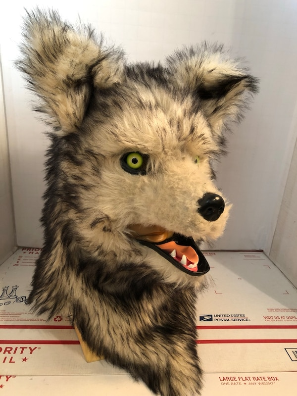Wolf Animated Over The Head Furry Costume Mask